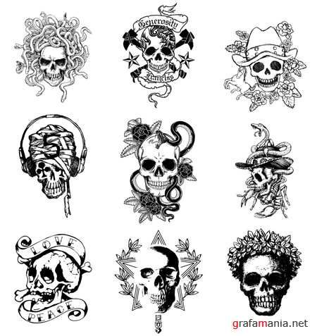Skull Tattoos Vectors 2