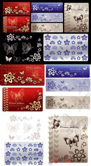 Butterfly Backgrounds Vector