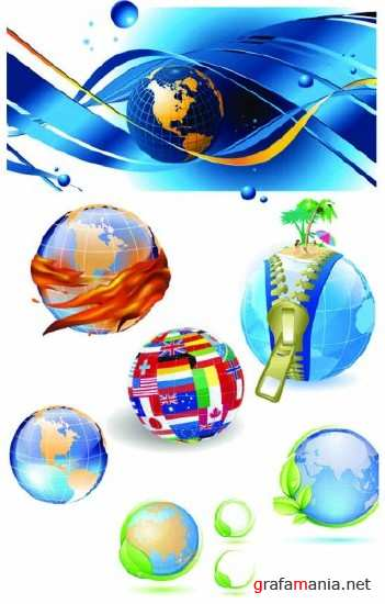 Collection Globes Vector