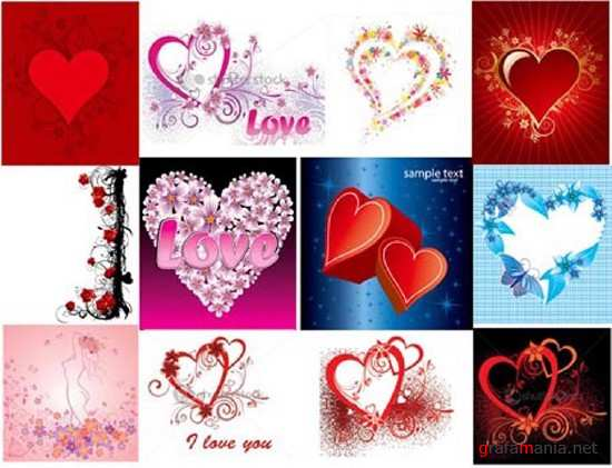 Set Hearts Backgrounds