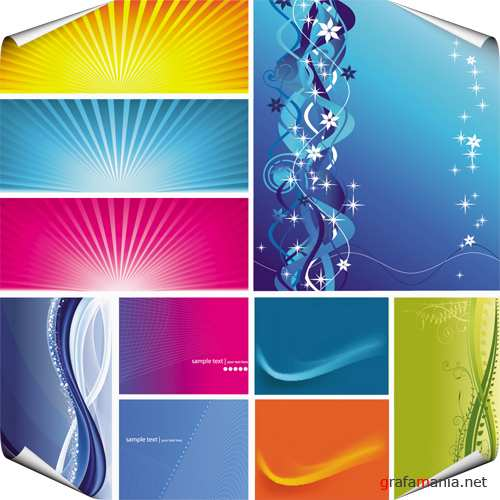 Set of Colored Backgrounds