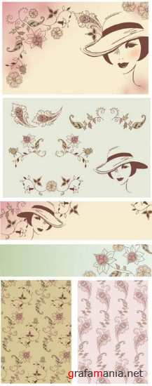 Women Backgrounds Vector