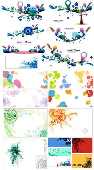 Drops Backgrounds Vector