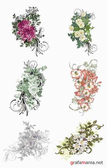 Floral Patterns PSD