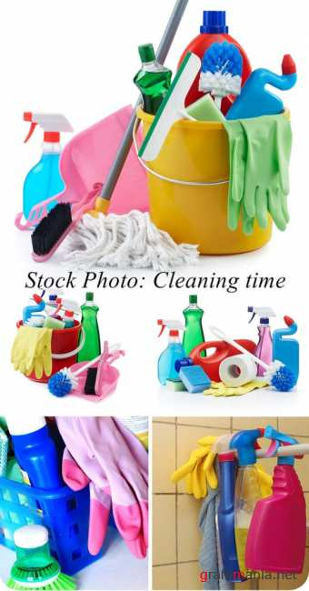 Stock Photo: Cleaning time