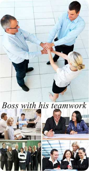 Stock Photo: Boss with his teamwork