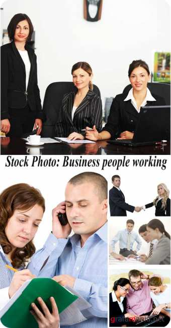 Stock Photo: Business people working