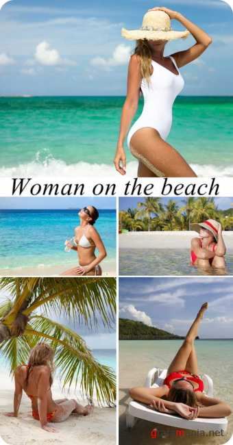 Stock Photo: Woman on the beach