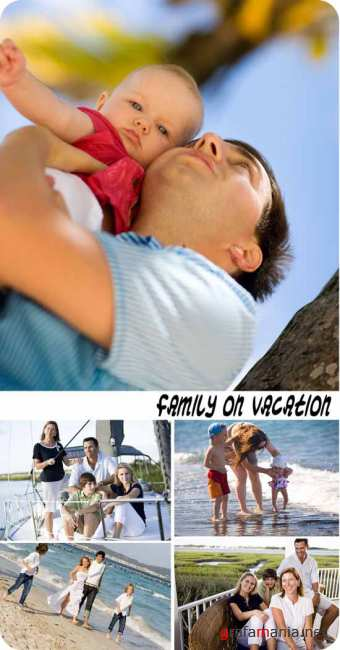 Stock Photo: Family on vacation