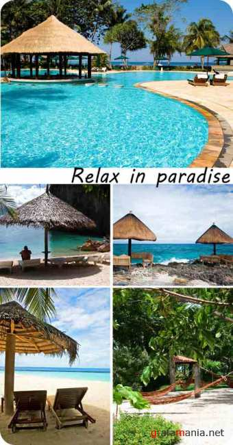 Stock Photo: Relax in paradise