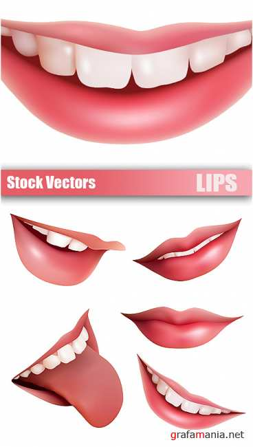 Stock Vectors - Lips
