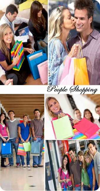 Stock Photo: People Shopping