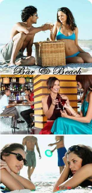 Stock Photo: Bar and Beach