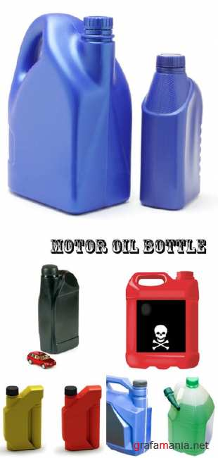 Stock Photo: Motor oil bottle
