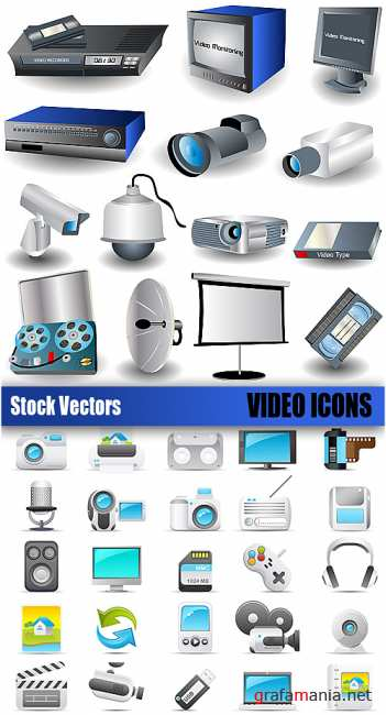 Stock Vectors - Video icons