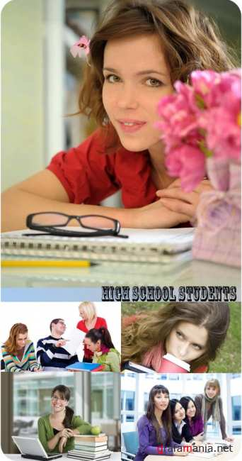 Stock Photo:  High school students