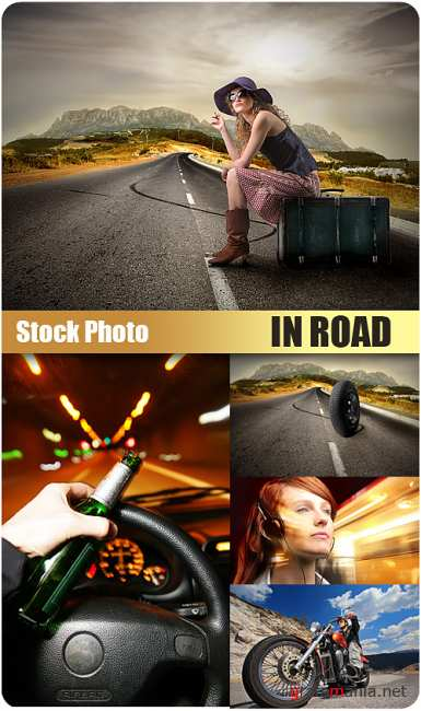 Stock Photo - In road