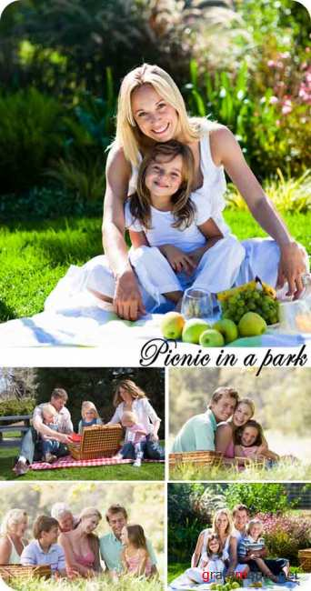 Stock Photo: A picnic in a park