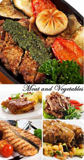 Stock Photo: Meat and Vegetables