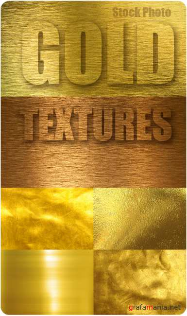Stock UHQ Photo - Gold Textures