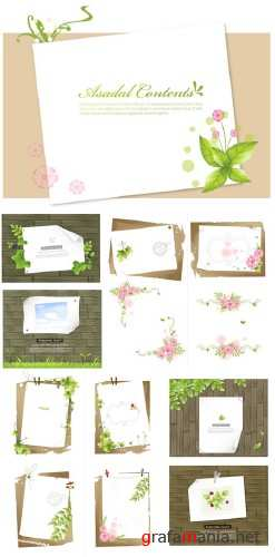 Asadal Vector Design - Flower Frames 2