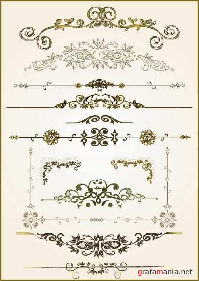 Set of vector ornaments