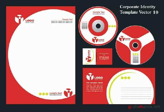 Corporate Indentity Template Vector 10