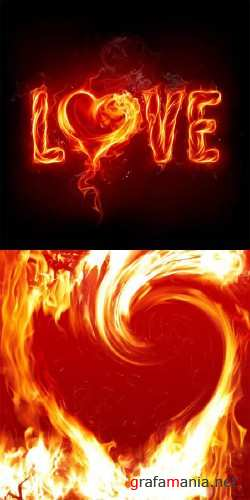 Stock Images - Fire and Love