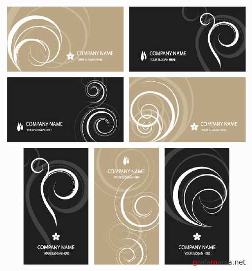 Black and beige business cards