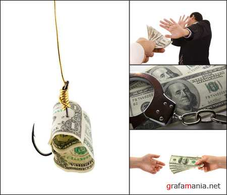 Stock Photos - Thiefs and Money