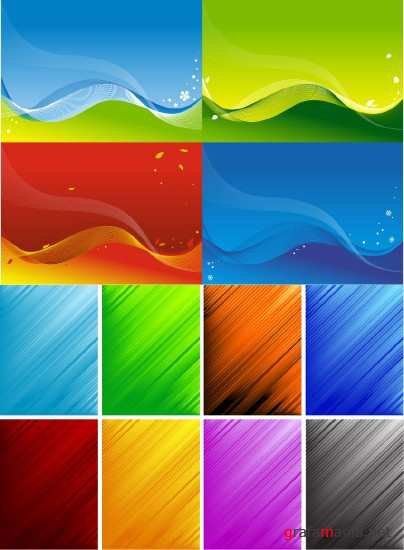Two sets of vector backgrounds