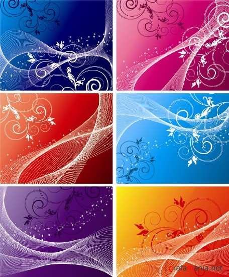 Six colored backgrounds