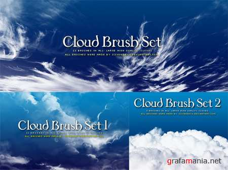 Clouds Photoshop Brushes (3 Sets)