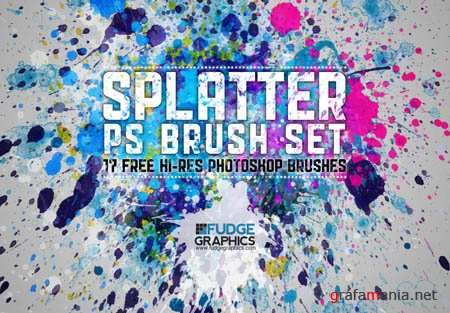 Hi-Res Splatter Photoshop Brushes