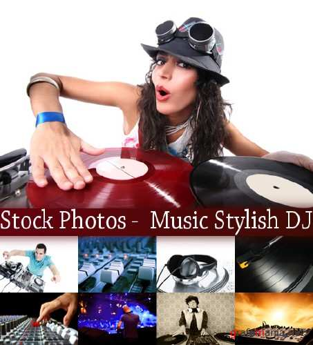 Stock Photos -  Music Stylish DJ