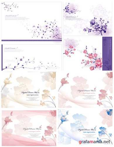 Gentle flower backgrounds