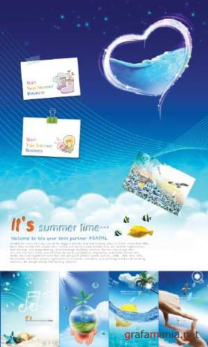 Summer Psd Templates