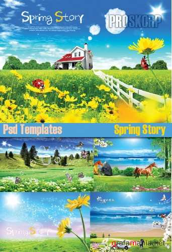 Psd Templates - Spring Story
