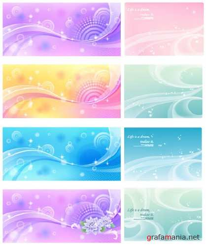 Set of beautiful backgrounds