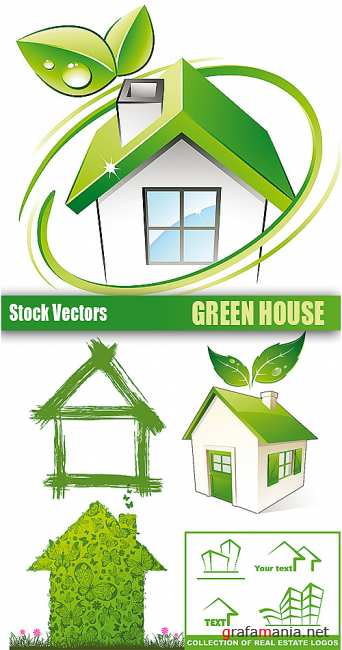 Stock Vectors - Green House