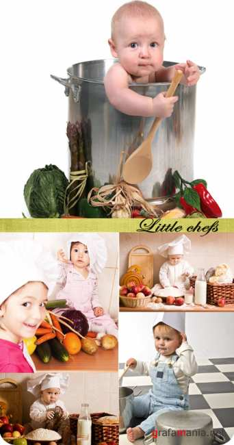 Stock Photo: Little chefs