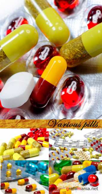 Stock Photo: Various pills