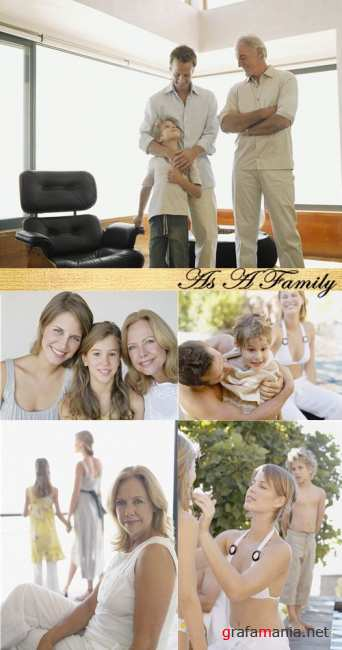 Stock Photo: As A Family