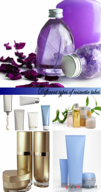 Stock Photo: Different types of cosmetic tubes