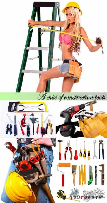 Stock Photo: A mix of construction tools