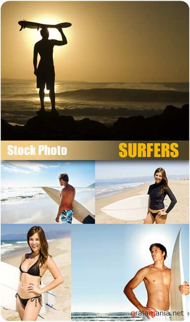 Stock Photo - Surfers