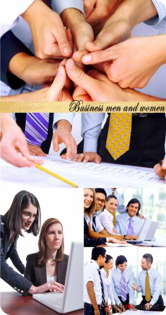 Stock Photo: Business men and women