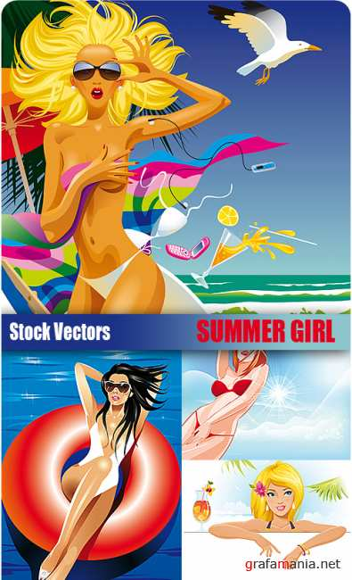 Stock Vectors - Summer Girls