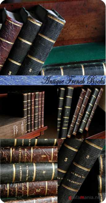 Stock Photo: Antique French Books