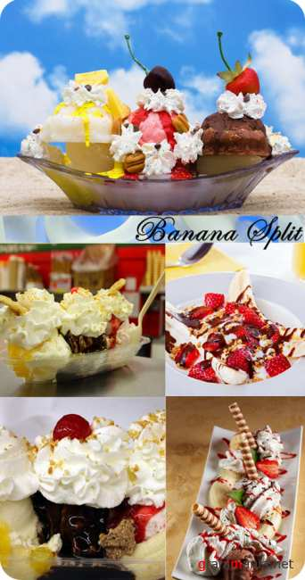Stock Photo: Banana Split
